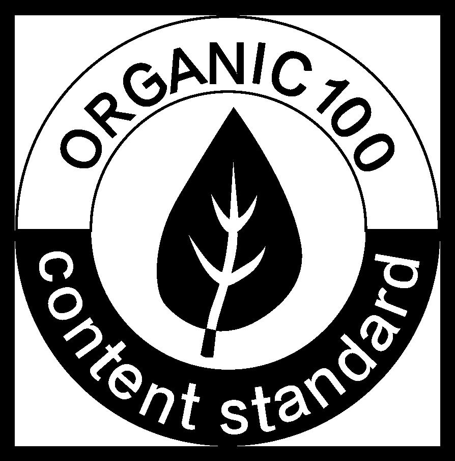 Organic Content Standard Logo black